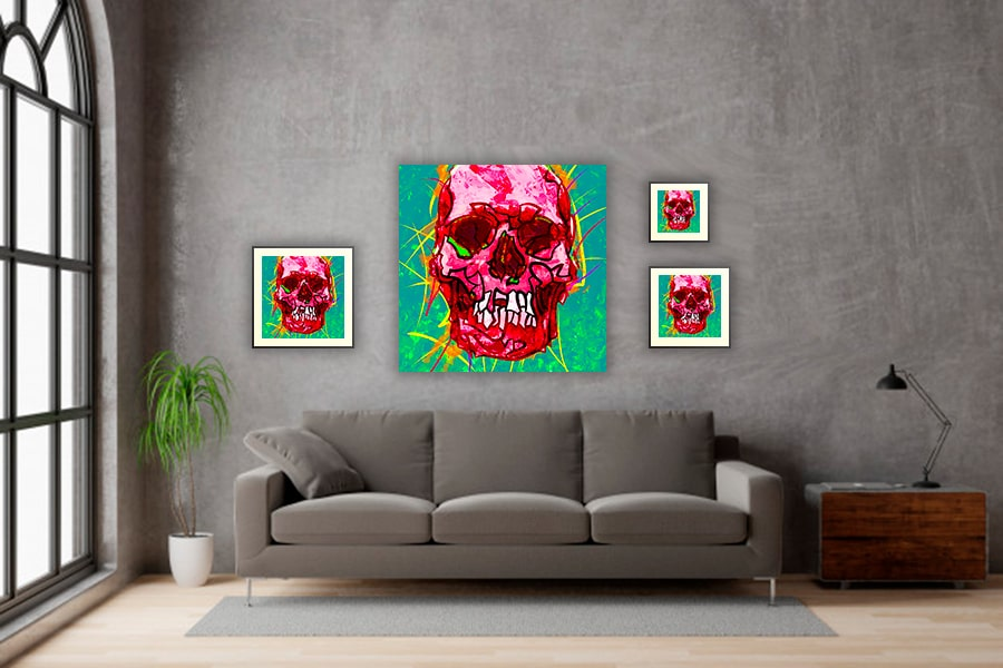 IN SITU EDITION SKULL 02 ROUGE