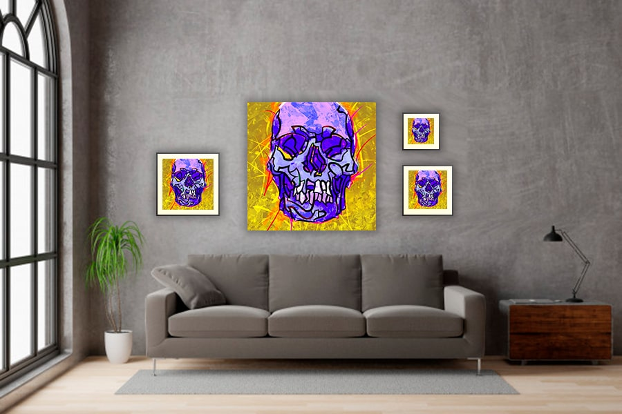 IN SITU EDITION SKULL 02 VIOLET