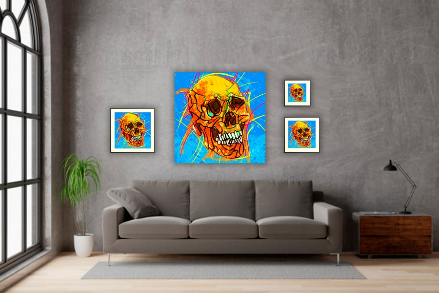 IN SITU EDITION SKULL 03 ORANGE