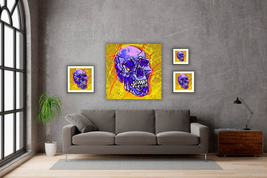 IN SITU EDITION SKULL 03 VIOLET