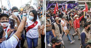 Keiko Fujimori es más fuerte electoralmente en Lima, mientras que Pedro Castillo logra importantes apoyos en las zonas rurales de Perú.