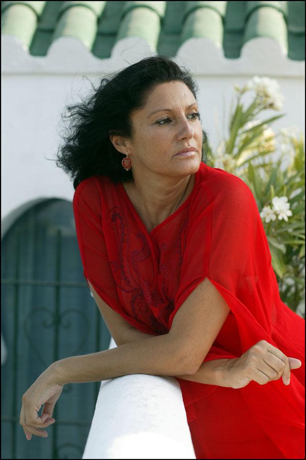 Carmen Ordóñez en Tánger en 2002