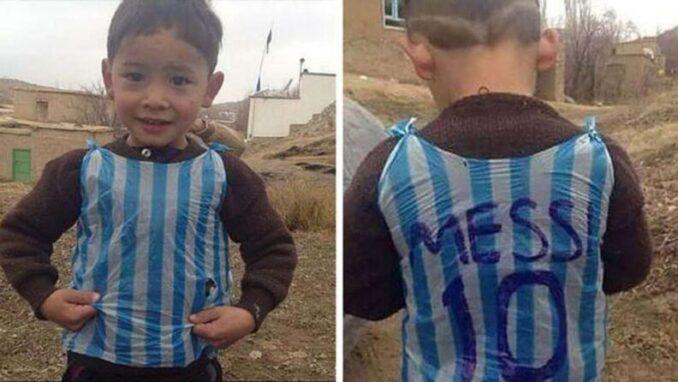 Murtaza Ahmadi: El niño afgano fanático de Messi pide ayuda para salir del país