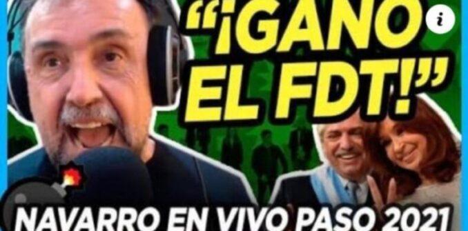 Un periodista kirchnerista de C5N anunció el triunfo del Frente de Todos en la provincia de Buenos Aires