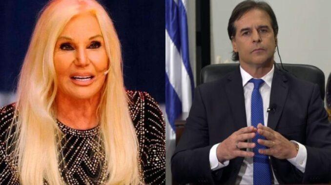 Susana Giménez tuvo una cena privada con el presidente de Uruguay Luis Lacalle Pou
