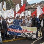 Ex trabajadores de Telecom reclaman que se haga justicia a su favor