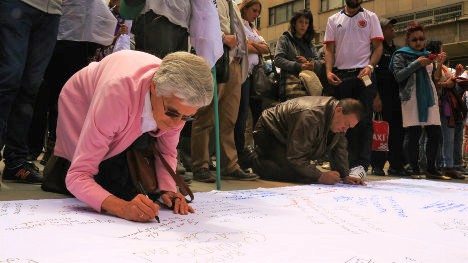 El pasado 23 de junio bogotanos expresaron su apoyo al cese al fuego. Foto A.P.R.