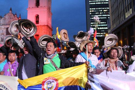 Movilización por la paz en Bogotá. Foto Carolina Tejada.