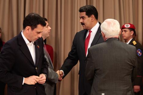 Otro aspecto de la cita de Maduro con la oposición.