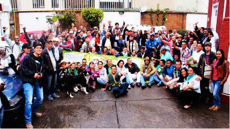 Asistentes a la Cumbre Campesina de Paz.