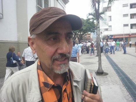 Augusto Benjumea Chamucero, líder ambientalista amenazado. Foto Nelosi.
