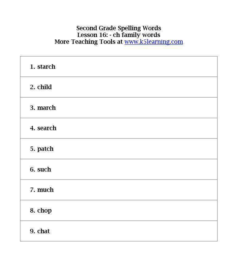 2nd Grade Spelling Worksheets Pdf Also 2 Grade Spelling Kidz Activities