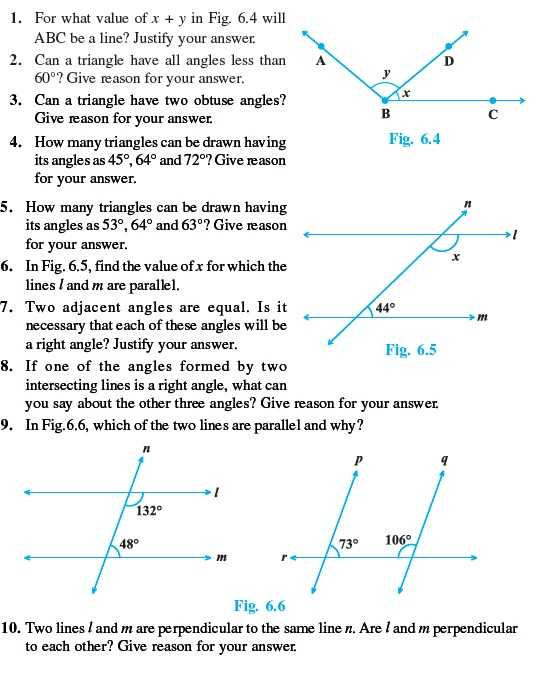 3 1 Lines and Angles Worksheet Answers Also Class 9 Important Questions for Maths – Lines and Angles