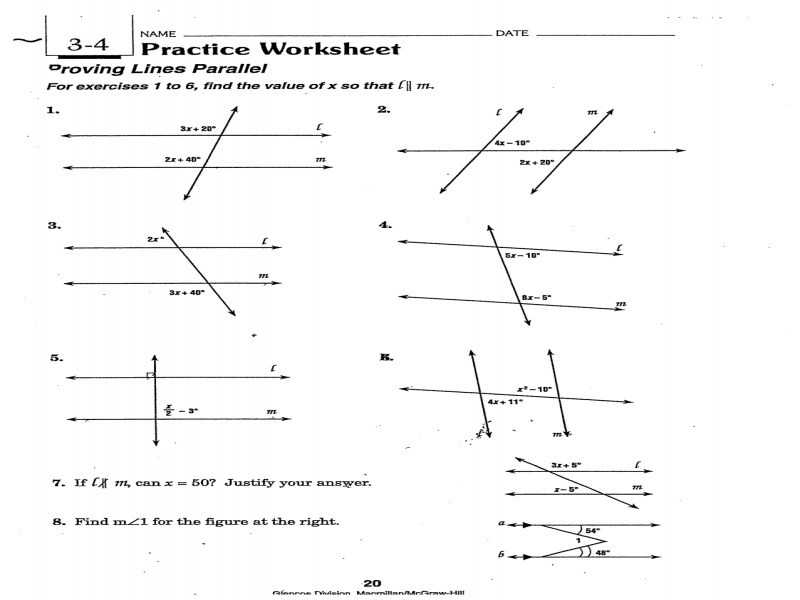 3.3 Proving Lines Parallel Worksheet Answers as Well as Worksheets 48 Beautiful Parallel and Perpendicular Lines Worksheet