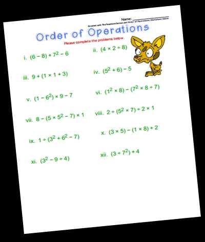 7th Grade order Of Operations Worksheet Pdf with Worksheets 45 Re Mendations order Operations Worksheet Hd