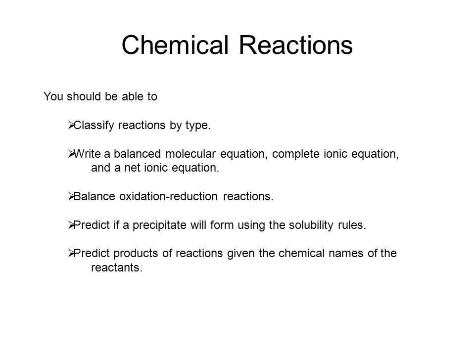 8.2 Types Of Chemical Reactions Worksheet Answers together with Chemical Equations & Reactions Chemical Reactions You Should Be Able