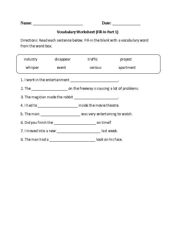 8th Grade Vocabulary Worksheets Also 8th Grade English Worksheets Free Printable
