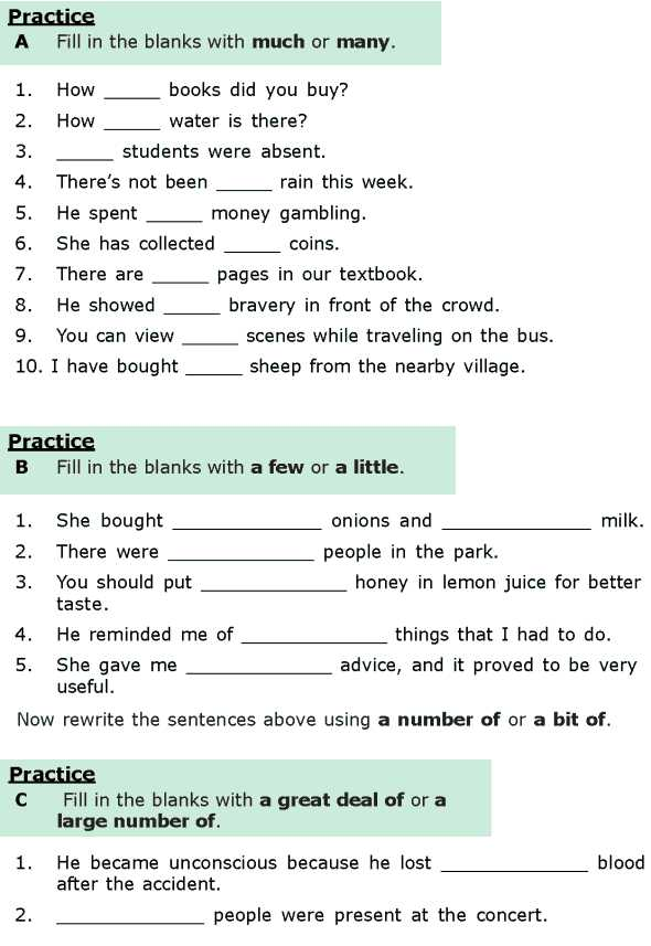 9th Grade English Worksheets and Grade 6 Grammar Lesson 16 Quantifiers 1 English
