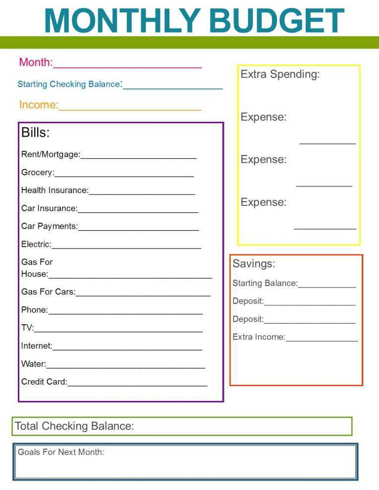A Monthly Budget Worksheet Also Financial Bud Spreadsheet Template and Monthly Family Bud Great