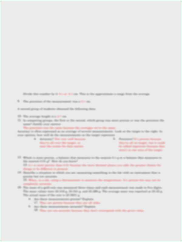 Accuracy and Precision Worksheet and Accuracy and Precision Worksheet