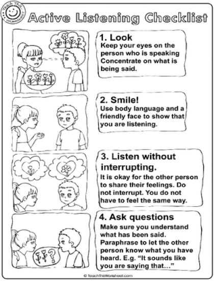 Active Listening Worksheets Along with 69 Best Listening Images On Pinterest