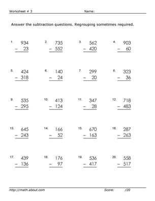 Adding and Subtracting Mixed Numbers Worksheet Pdf and 3 Digit Subtraction Worksheets some Regrouping
