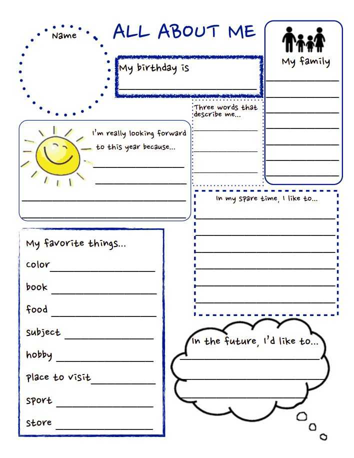 All About Me Worksheet Middle School Pdf Also 75 Best About Me Images On Pinterest