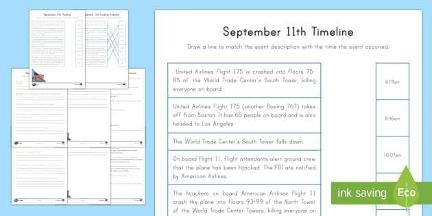 American Revolution Timeline Worksheet Also September 11th Differentiated Timeline Worksheet Activity
