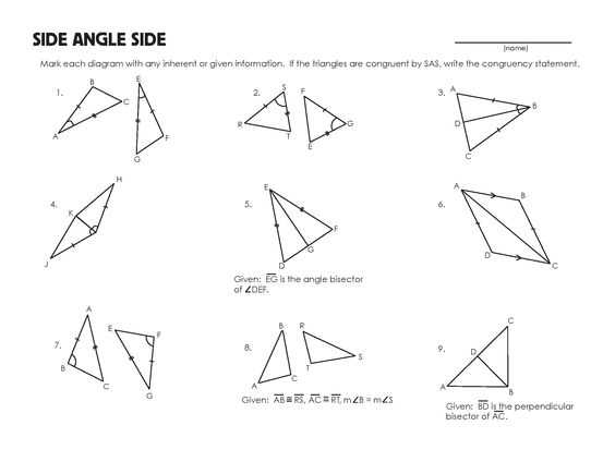 Angle Bisector Worksheet Answer Key Along with Congruent Triangles Worksheet Grade 9 Kidz Activities