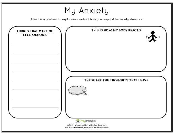 Anxiety Worksheets for Adults Along with Help Children Learn About and Manage their Anxiety with This