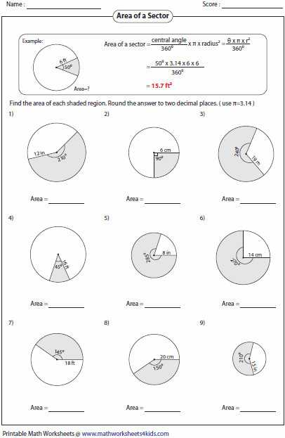 Arc Measure and Arc Length Worksheet as Well as Arc Length and Sector area Worksheet