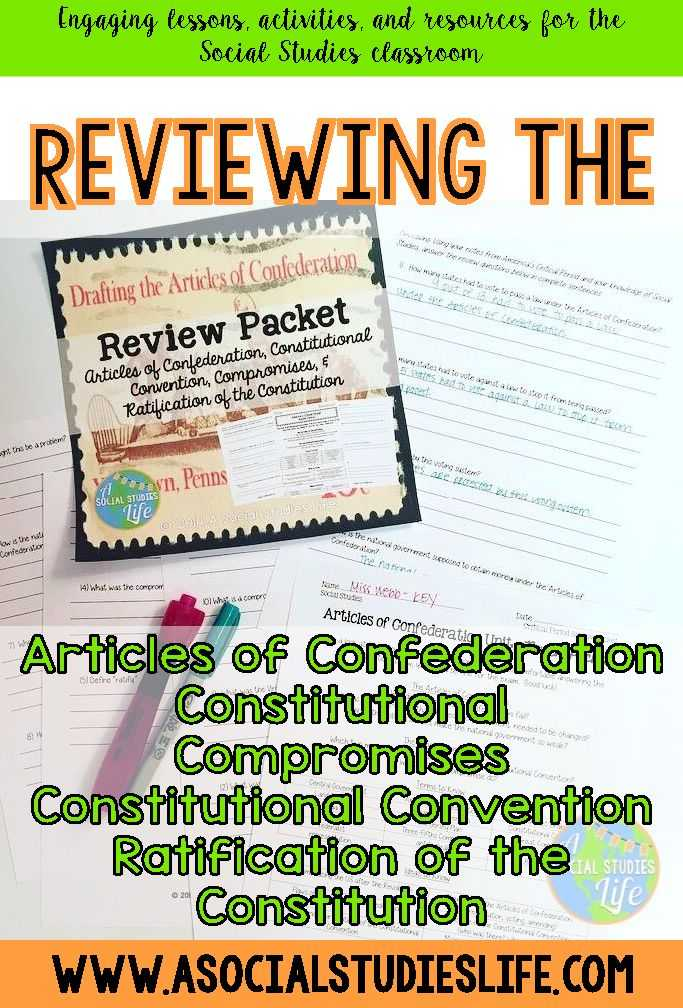 Articles Of Confederation Worksheet Middle School and 71 Best Articles Of Confederation Images On Pinterest