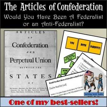 Articles Of Confederation Worksheet Middle School as Well as Articles Of Confederation Lesson Federalist Vs Anti Federalist