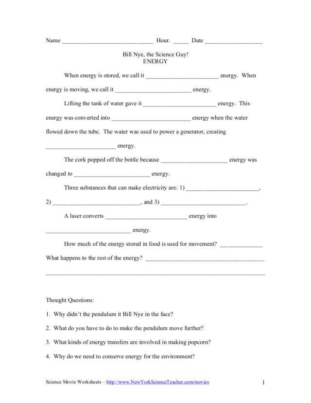 Bill Nye Genes Video Worksheet Answers Along with Bill Nye the Science Guy Static Electricity Worksheet
