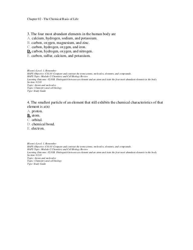 Biology Chapter 2 the Chemistry Of Life Worksheet Answers Along with Schön Anatomy and Physiology Chemistry Review Bilder Menschliche