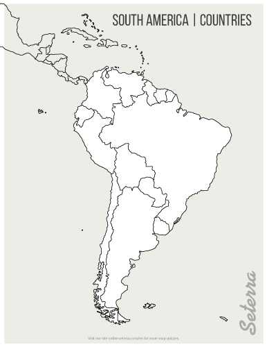 Blank World Map Worksheet Pdf Along with 01 Blank Printable south America Countries Map Pdf