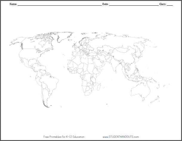 Blank World Map Worksheet Pdf Along with 107 Best Geography Images On Pinterest