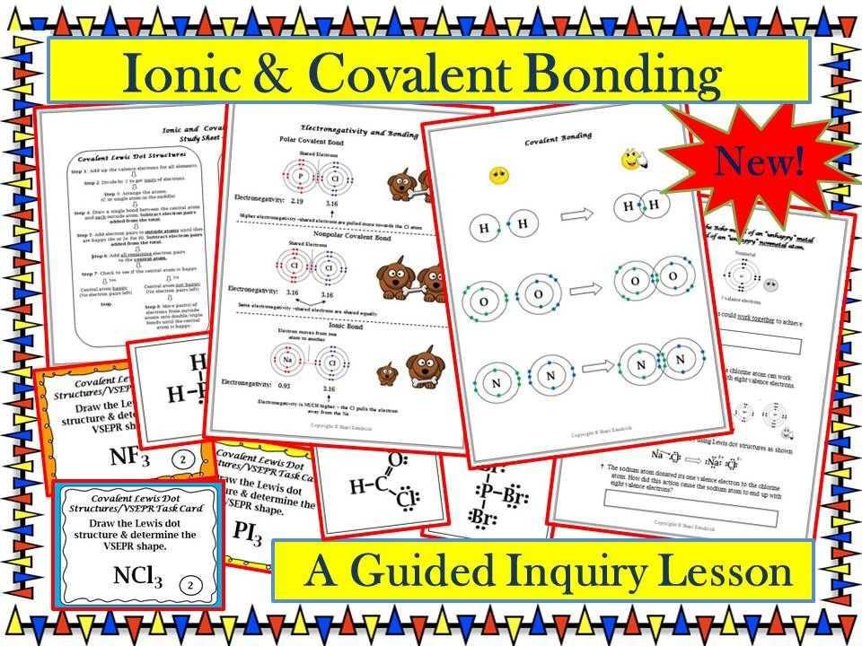 Bonding Basics Worksheet together with Chemistry Ionic & Covalent Bonding Lewis Dot & Vsepr Guided