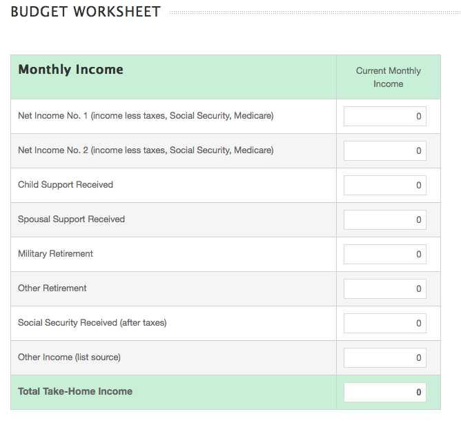 Budget Helper Worksheet Printable and Online Monthly Bud Worksheet Guvecurid