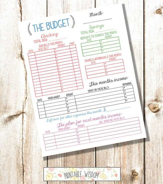 Budgeting for Dummies Worksheet or Instant Download Printable Bud Planner organizer Monthly Diy Pdf