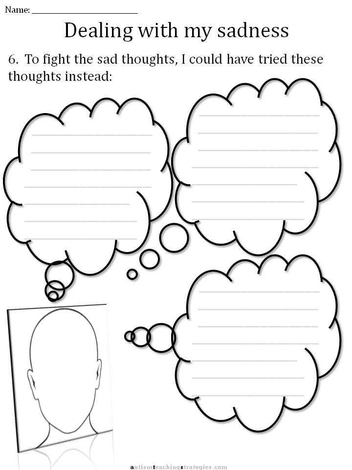 Cbt Worksheets for Anxiety Along with Cbt Sadness Worksheet School Pinterest