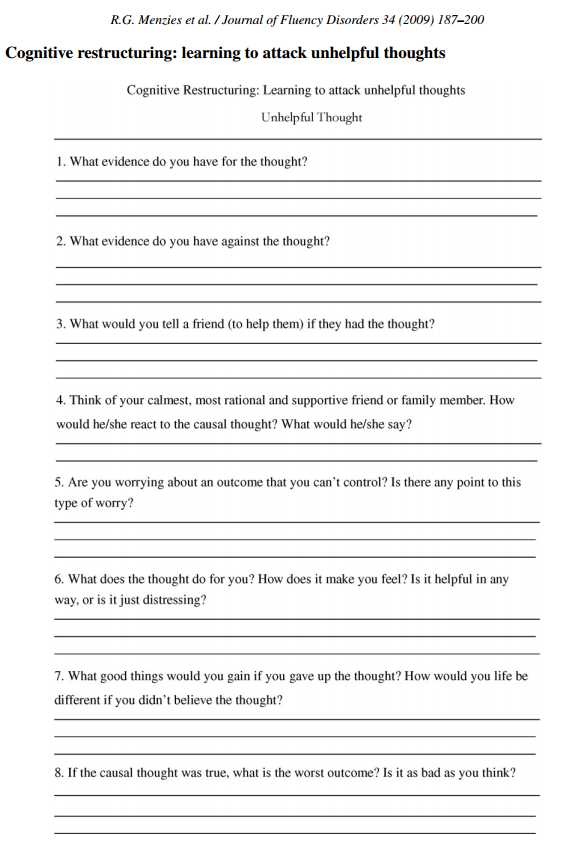 Cbt Worksheets for Anxiety Also Cbt Worksheet Redefiningbodyimage This Looks Like A Really