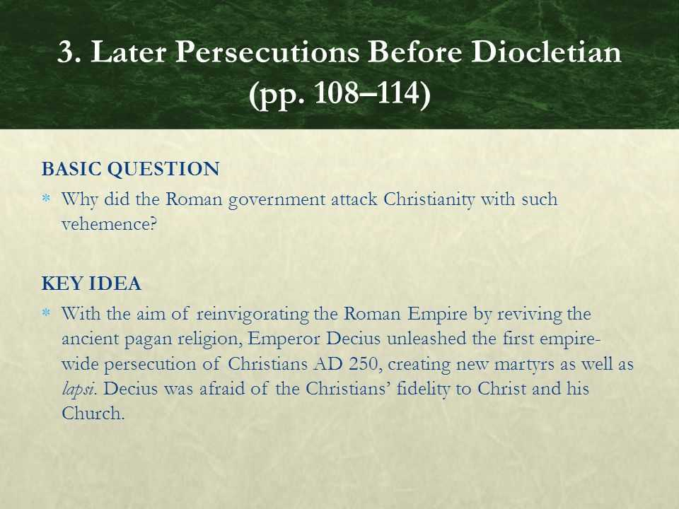 "Chapter 6 Ancient Rome and Early Christianity Worksheet Answers and Chapter 3 Persecution Of ""the Way"" Ppt"
