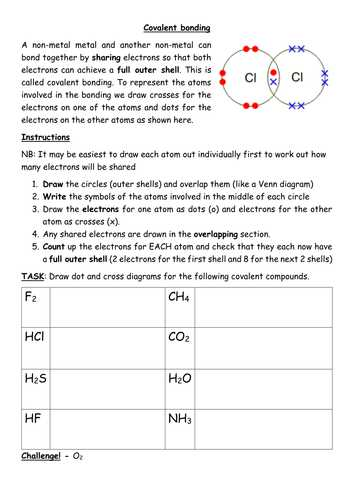 Chemical Bonding Review Worksheet Answer Key Also Covalent Bonding Worksheet Including Simple Structures Gcse by