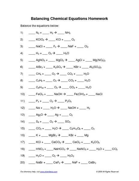 Chemistry Balancing Chemical Equations Worksheet Answer Key Along with 16 Best Balancing Chemical Equations Worksheet