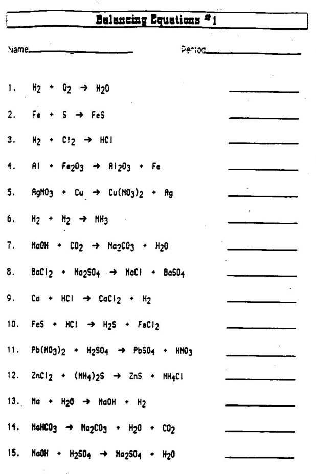 Chemistry Balancing Chemical Equations Worksheet Answer Key with Worksheets 48 Inspirational Chemical Reactions Worksheet Hd