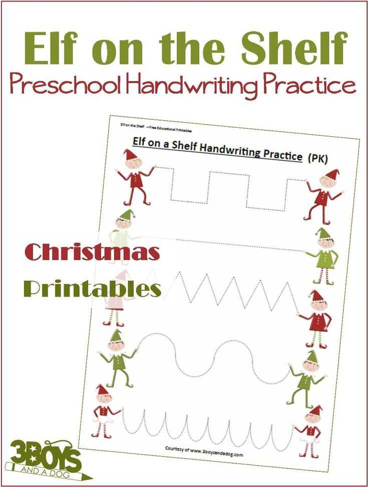 Christmas Handwriting Worksheets Along with 1099 Best Christmas Crafts Education Recipes Images On Pinterest