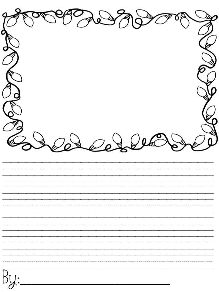 Christmas Handwriting Worksheets Also Christmas Writing Paper Maybe Use to Write Elf On the Shelf