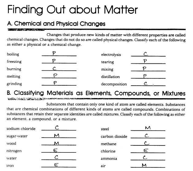 Classification Of Matter Worksheet Answer Key or Classifying Matter Worksheet Answers Lovely Mixture Worksheet