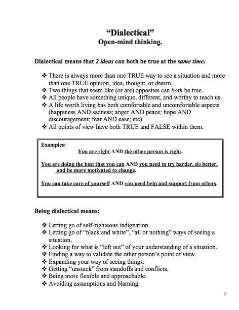 Cognitive Distortions therapy Worksheet as Well as Dialectical Behavior therapy Great Worksheet